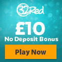 32Red Casino £10 No Deposit Welcome Bonus