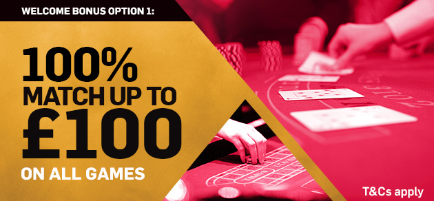 Betfair Casino £100 Welcome Bonus